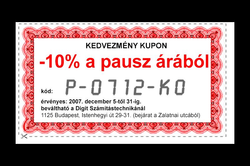 Kupon pausz vásárlásához (2007)