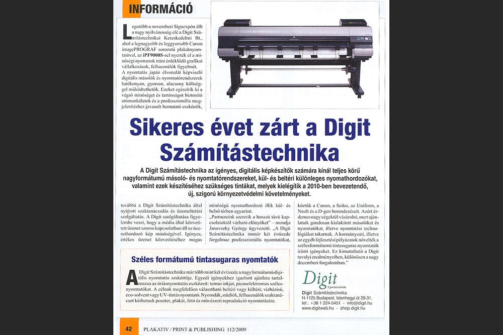 Cikk rólunk a Print & Publishing magazinban (2009)