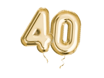 We are 40!